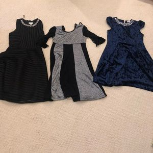 Lot of 3 girls party dresses size 10 EUC